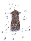 Illustration of arrow with people. Isolated , white background Stock Photography