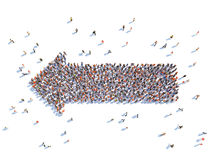Illustration of arrow with people. Isolated , white background Royalty Free Stock Photo