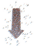 Illustration of arrow with people. Isolated , white background Royalty Free Stock Image