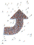 Illustration of arrow with people. Isolated , white background Royalty Free Stock Photos