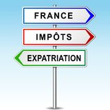 Expat arrows concept. Illustration of arrows for france, tax and expat Royalty Free Stock Photography