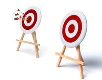 Illustration of arrows in target. 3d illustration of arrows in target Royalty Free Stock Photos