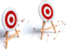 Illustration of arrows in target Royalty Free Stock Images