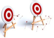 Illustration of arrows in target. 3d illustration of arrows in target Royalty Free Stock Images