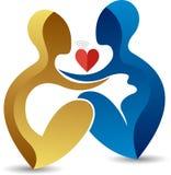 Affection pregnant woman logo Stock Photo