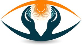 Bright eye care logo Stock Images