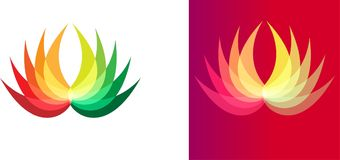 Illustration art of colorful flower and company logo. With isolated background and gradient background Royalty Free Stock Photography