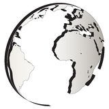 Round globe logo. Illustration art of corporate round globe logo with white background Royalty Free Stock Photo
