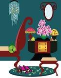 Illustration of an art deco room royalty free illustration