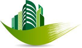 Eco building logo stock photography