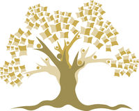 Education tree logo Stock Photo