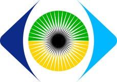 Eye logo. Illustration art of a eye logo with isolated background Royalty Free Stock Photo
