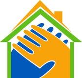 Home heart logo Stock Photo