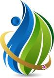 Leaf care logo Royalty Free Stock Photos