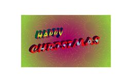 Illustration art of new abstract beautiful happy christmas design background Royalty Free Stock Photo