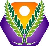 Polygon leaf logo royalty free stock images