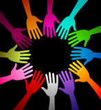 Round hands Stock Image