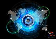 Illustration artistique du rendu 3d d'une carte énergique du monde image libre de droits