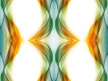 Illustration artistique unique de fractales de résumé sur un fond blanc images stock