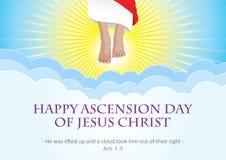 Ascension day of Jesus Christ stock illustration