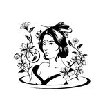 Asian woman vector ilustration royalty free stock image