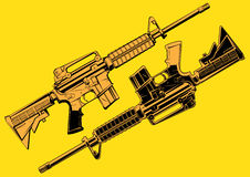 Illustration Assault Riffle Stock Images