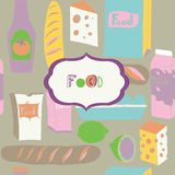 Illustration of assorted foods Stock Photography