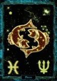 Illustration astrologique : Poissons illustration libre de droits