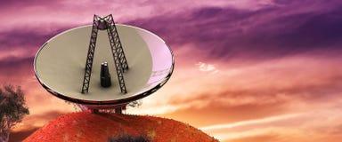 illustration of astronomical antennas Royalty Free Stock Photos