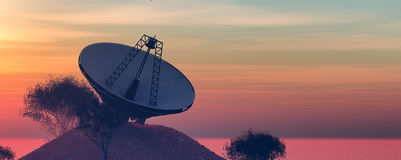illustration of astronomical antennas Stock Photos