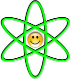 Illustration of the atom symbol Stock Images