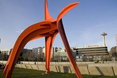Parc olympique Seattle de sculpture Images libres de droits