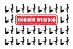 Illustration au sujet d'urination fréquent Photos stock