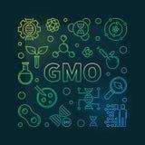 Illustration au trait génétiquement modifié vecteur d'organisme illustration libre de droits