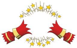 Illustration au trait ouvert tiré par biscuit Noël illustration libre de droits