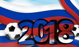 Illustration audacieuse de la police 3d du football 2018 russes du football de la Russie Photos libres de droits