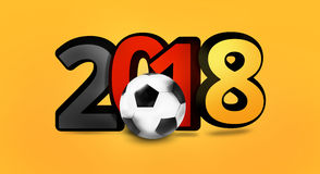 Illustration audacieuse de la police 3d du footballl 2018 allemands du football de l'Allemagne Images stock