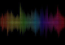 Illustration of audio spectrum Royalty Free Stock Photos