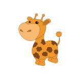 Illustration auf dem farblosen Hintergrund mit einer Giraffe Stockfotos
