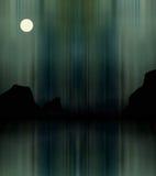 Illustration of aurora borealis royalty free stock image