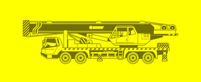 Truck crane Stock Images