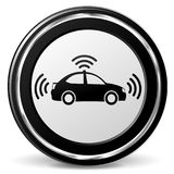 Autonomous car black and gray icon Royalty Free Stock Photo