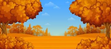 Autumn forest landscape. Illustration of Autumn forest landscape Royalty Free Stock Photo