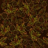 Illustration of Autumn graphic with color stylize seamless pattern.. Vector illustration of Autumn graphic with color stylize seamless pattern. Doodle design Royalty Free Stock Image