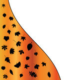 Illustration of  Autumn leaf silhouettes background. Orange wallpaper design. Royalty Free Stock Image