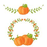 Pumpkin and leaves Royalty Free Stock Photo