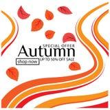 Illustration Autumn Sale Background de vecteur illustration libre de droits