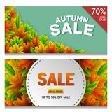 Autumn sale banners. Illustration of Autumn sale banners Stock Image
