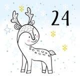 Illustration av Advent Calendar för att vänta för jul vektor illustrationer