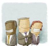 Illustration av affärsfolk Stock Illustrationer